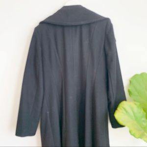Anne Klein Jackets & Coats - Anne Klein Coat Black Wool Blend Long Size 10